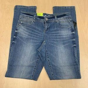 INC Denim Women's Straight Leg Curvy Fit Blue